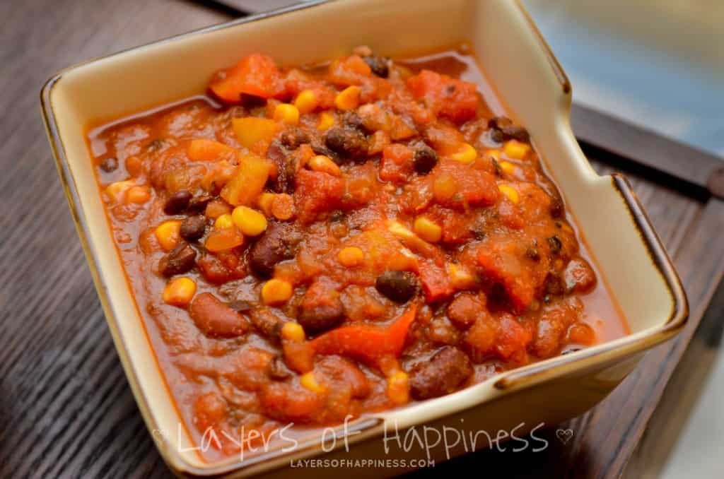 meatless chili recipe chili vegetarian chili with vegetarian chili ...