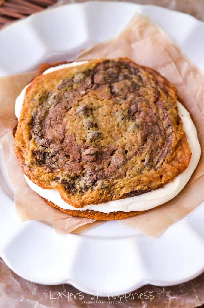 Chewy Chocolate Chip Cookie Sandwich-2