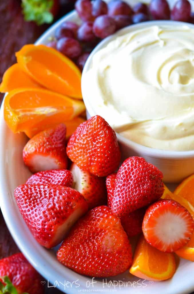 how to make strawberry fruit dip with cool whip
