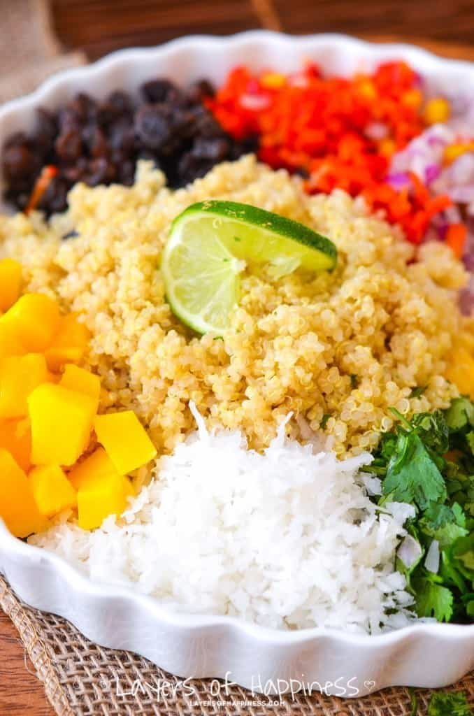 Tropical Fruit Quinoa Salad