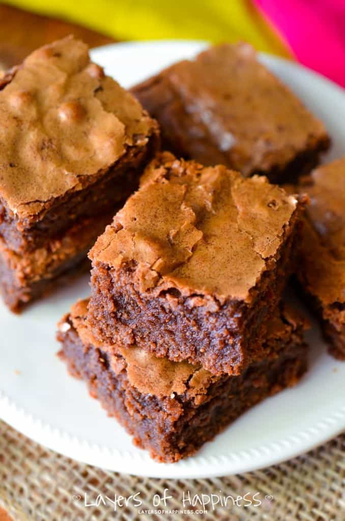 ... homemade brownies. Because let's be honest, a brownie should be two