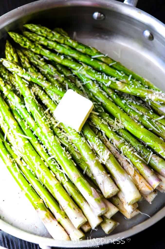 Best-Ever Lemon Parmesan Asparagus - Layers of Happiness