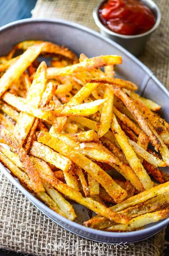 ... could also sprinkle some grated Parmesan on the fries after baking