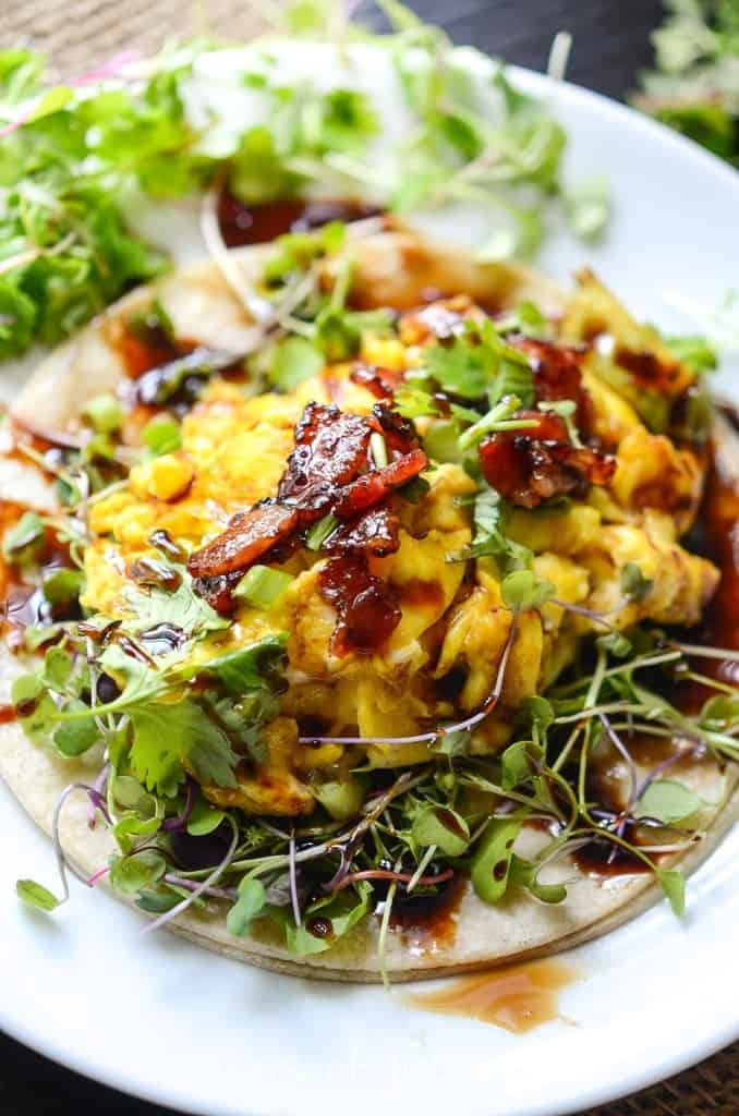 Farmers Market Breakfast Egg Tacos