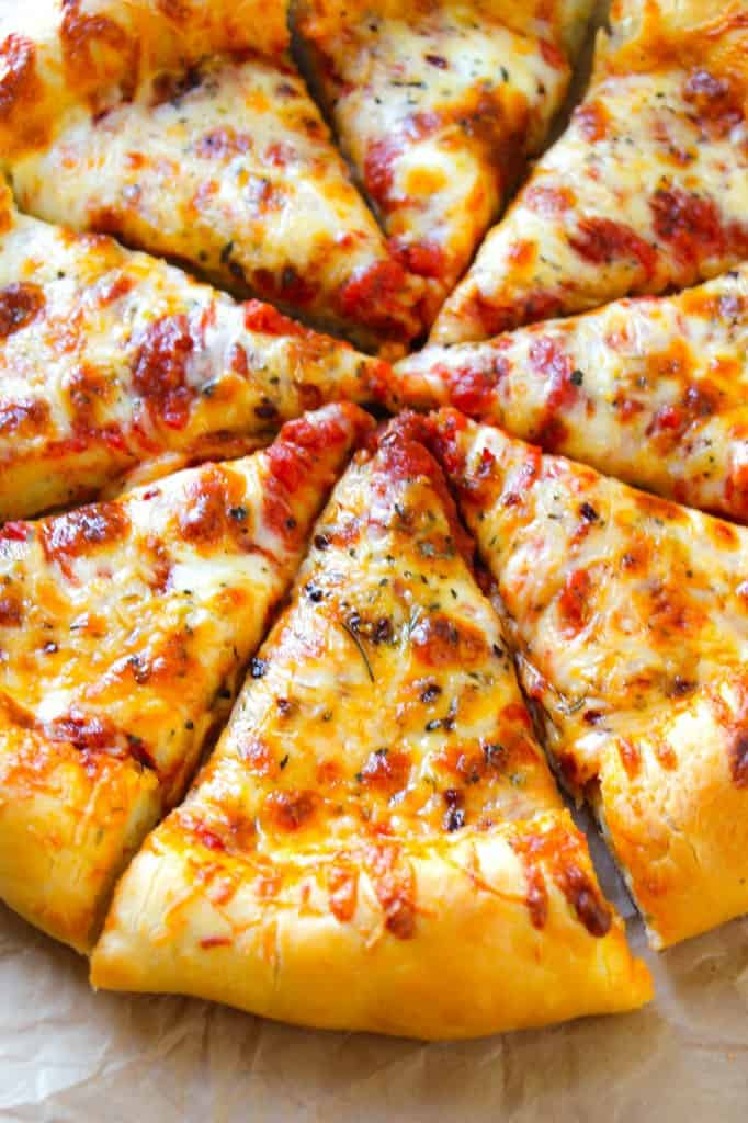 Cheesy Pizza Crust - Layers of Happiness