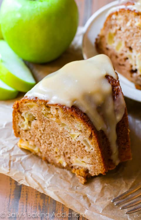 Favorite fall flavor: Glazed Apple Bundt Cake . That cake looks so ...