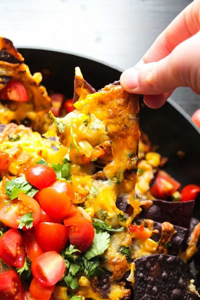 Cheesy Corn Dip and Jalapeno Nachos - perfect for the #SuperBowl