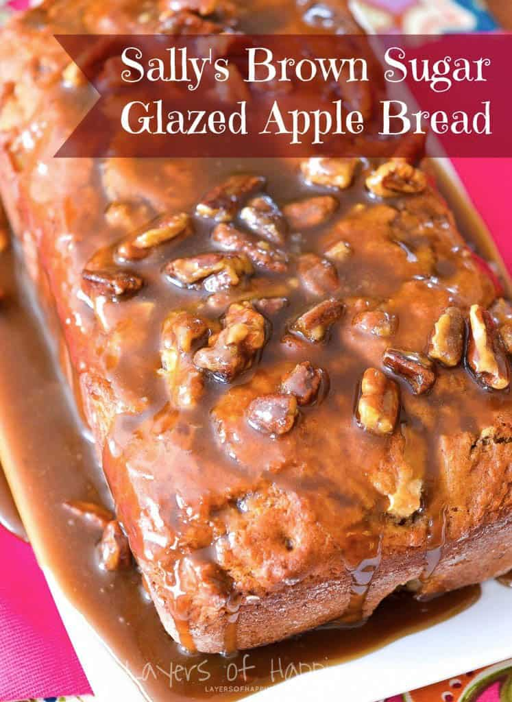 Apple Pecan Brown Sugar Glaze Bread