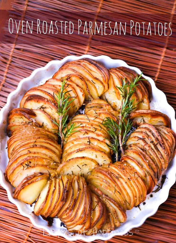 Sliced Potato Parmesan bake