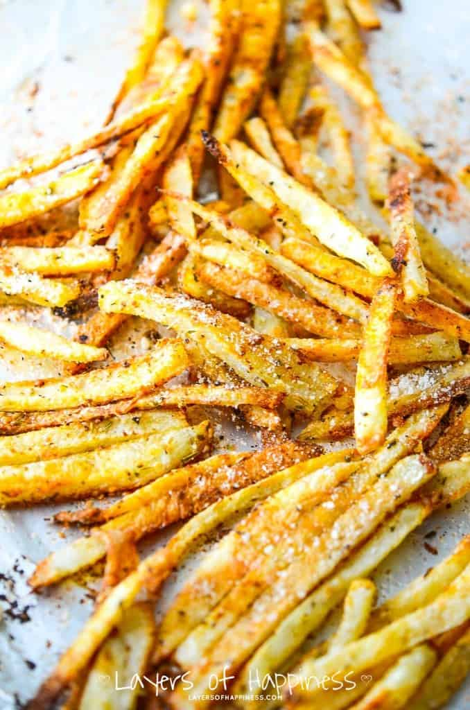 Extra Crispy Oven Baked Fries