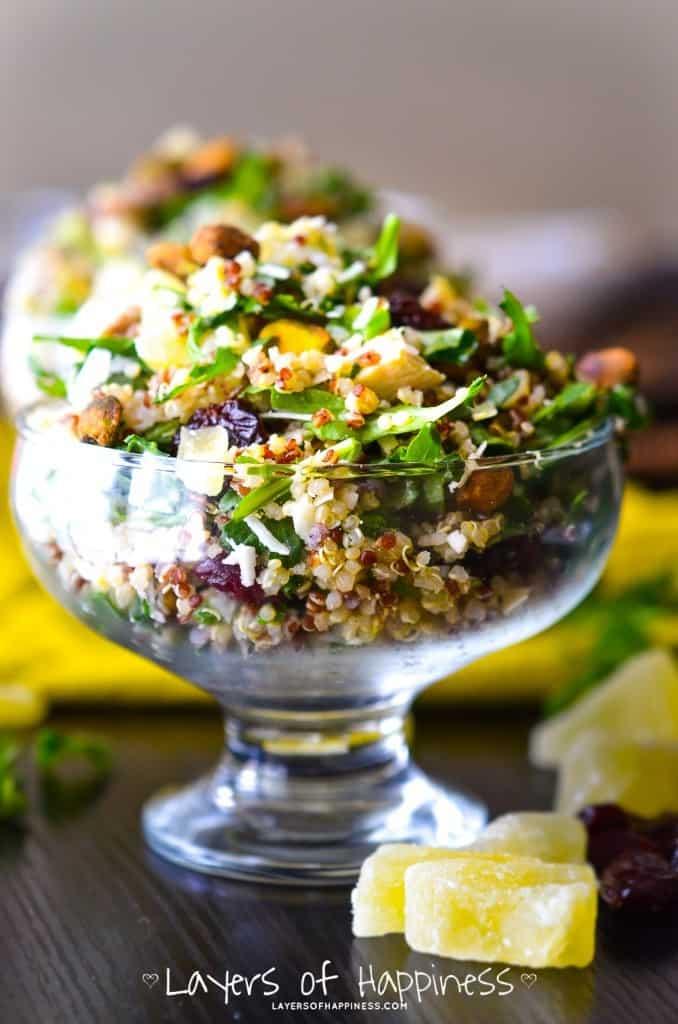 Pineapple Pistachio Quinoa Salad