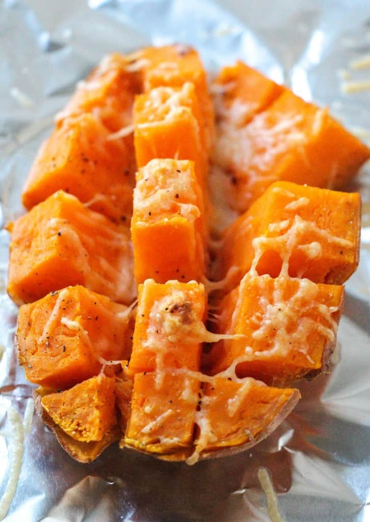 Easy 15 Minute Roasted Sweet Potatoes Layers Of Happiness