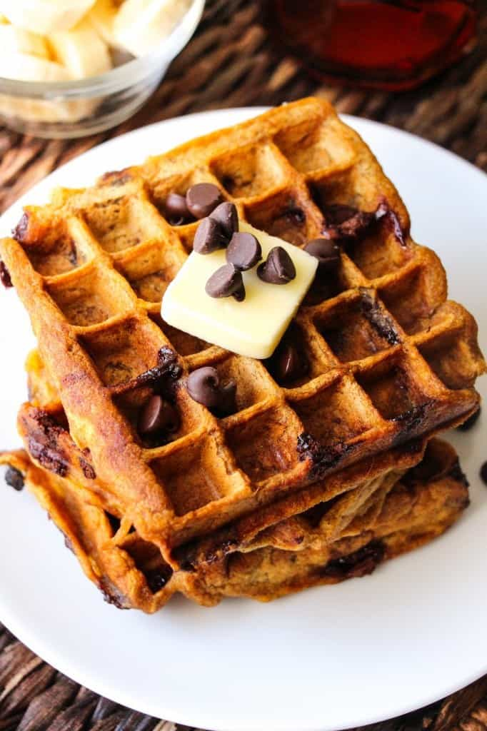 healthy-pumpkin-chocolate-chip-waffles-9